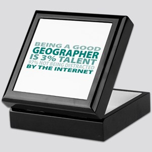 Good Geographer Keepsake Box